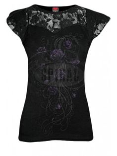 07a8a55401b Women s Entwined Lace Layered Cap Sleeve Top - Black