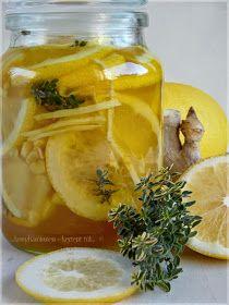 ...konyhán innen - kerten túl...: Gyömbéres-citromos méz kakukkfűvel Healthy Drinks, Healthy Recipes, Hungarian Recipes, Health Tips, Smoothies, Paleo, Health Fitness, Cooking Recipes, Vegetarian