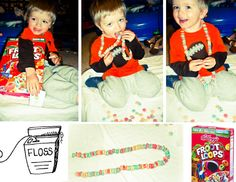 Froot Loops/ Dental Floss Crafts Neckless/Fun Snack!