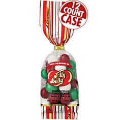 6 oz bags of Christmas Chocolate Malt balls from Jelly Belly. Colorful malt balls with crispy shells. Holiday candy great for stockings! Chocolate