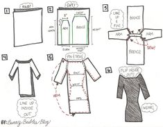 Off the Shoulder Dress Tutorial Instructions by Bunny Baubles Blog