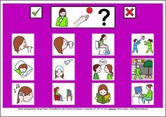 MATERIALES - Tablero de comunicación de 12 casillas: Necesidades básicas (género femenino).  http://arasaac.org/materiales.php?id_material=224