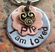 I Am Loved Pet ID Tag Aluminum SMALL 3/4 by FetchAPassionTags, $9.00