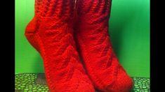 Вязание спицами женские носки на двух спицах