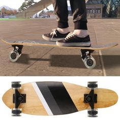cad6016974e 27 Inch Cruiser Element Skateboard 7 Ply Canadian Maple Board Retro Style  Complete Skateboards for Kids Boys Youths Beginners - Walmart.com