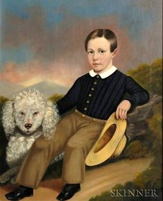 Young Boy With His Dog