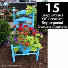 15 Inspirations Of Creative Repurposed Garden Planters