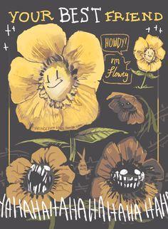 "princebunbuns: "" Time to practice drawing Flowey ovo "" Flowey Undertale, Undertale Fanart, Undertale Comic, Frisk, Flowey The Flower, Toby Fox, Pokemon, Drawing Practice, Comic Sans"