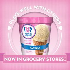 Baskin-Robbins® Ice Cream is Now Available in Grocery Stores! Br Ice Cream, Baskin Robbins, Ben And Jerrys Ice Cream, Grocery Store, Oatmeal, Berries, Frozen, Snacks, Breakfast
