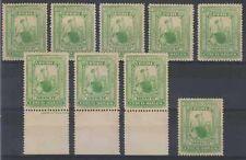 Peru 1899 Sc J34 Yvert tt38 nueve Singles Tonos Menta con bisagras F, Vf € 22,50 +