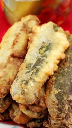 ... beer battered fried pickles with pickle dipping sauce beer battered