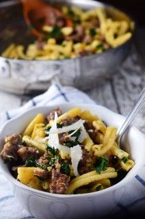 Parmesan Kale & Sausage Pasta