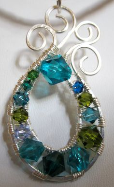 Endless Waves Wire Wrapped Crystal Pendant by Mariesinspiredwire, $22.50