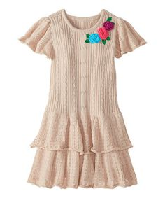 Love this Bisque Gabriella Sweater Dress - Infant, Toddler & Girls by Hanna Andersson on #zulily! #zulilyfinds
