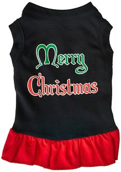 Mirage Pet Products 10-Inch Merry Christmas Screen Print Dress > Remarkable product available now. : Dog Dresses