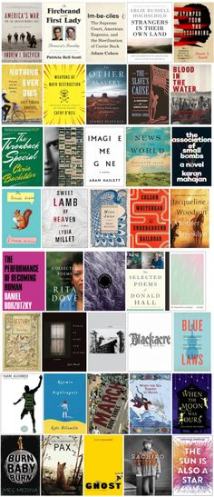 The 2016 National Book Awards Longlist