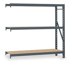 EDSAL ERZ962496A Bulk Storage Rack,Add-On,96Wx24Dx96H In by Edsal. $202.59. Welded Bulk Storage Rack, Add On, Width 96 In., Depth 24 In., Height 96 In., Beam Capacity 1500 lb., Particleboard Decking, 3 Levels, Shelf Levels 3, Gray, Powder Coat Finish, 16 Gauge Steel Construction