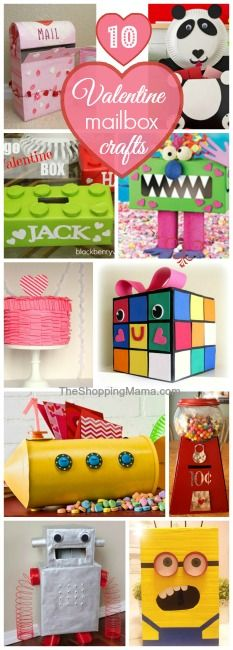 10 Valentine's Day Mailboxes: Craft With Your Kids! | The Shopping Mama