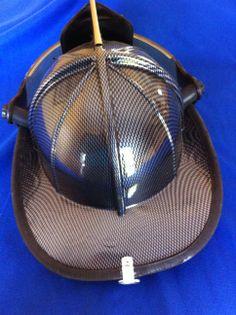 Fire Helmet dipped in Carbon Fiber.