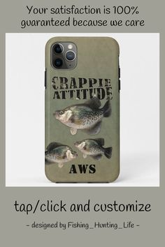 Crappie Attitude Fishing Case-Mate iPhone Case #crappie #white #crappie #fishing #angler