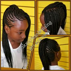 Kids Cornrows Mohawk meticulously done by us... 571-428-2608 for pricing info or…