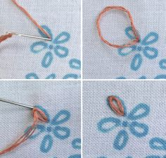 Embroidery Stitches Tutorial, Embroidery On Clothes, Embroidery Flowers Pattern, Simple Embroidery, Learn Embroidery, Hand Embroidery Stitches, Embroidery Hoop Art, Hand Embroidery Designs, Embroidery Ideas