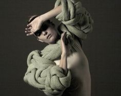 """Stine Ladefoged knitted collection """"Narcissism is calling"""""""