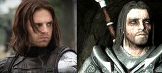 I know who the Winter Soldier is and everything, but can someone explain to me why he looks so much like Farkas from Skyrim?