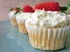 Skinny Strawberry Angel Food Cupcakes | Skinny Mom | Where Moms Get the Skinny on Healthy Living