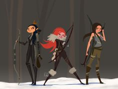 Hunting time on Behance