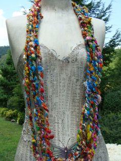 Fun+And+Funky+Sari+Yarn+Cording+So+Soft++3+by+hippiechixfiber,+$7.00.