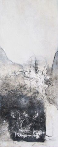 Gill Cohn - Freeing the Spirit, eastern delicate monotype rice-paper intricate