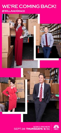 Move over, ladies! The original real housewife is back in town. Will & Grace returns TONIGHT at 9/8c on NBC.