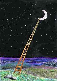 Build me a ladder to the moon. You Are My Moon, Luna Moon, Paper Moon, Sun And Stars, Moon Magic, Beautiful Moon, Arte Pop, Tumblr Photography, Moon Art