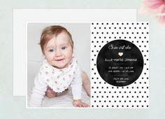 Geburtskarte / Geburtsanzeige  / PDF von EULENSCHNITT auf DaWanda.com