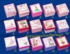 Κουτάκι με παραστάσεις για κορίτσι 8X8X5 για μπομπονιέρα βάπτισης