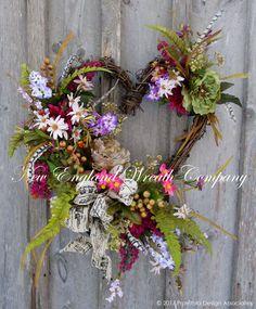 Grand Victorian Heart Wreath  ~A New England Wreath Company Designer Original~