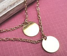 Double Strand  Gold Layering Necklace by Kikiburrabeads on Etsy, $22.50