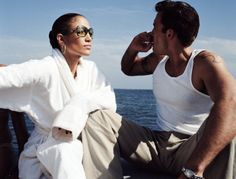 """""""Jennifer Lopez and Ben Affleck by Tony Duran on the set of """"Jenny from the Block"""" (October, 2002)  """""""