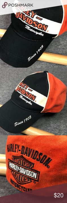 Harley Davidson motorcycles 1903 hat. Size XL Original Harley color block hat. b16 Harley-Davidson Accessories Hats