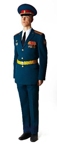 2008 pattern Russian Army officers' blue parade uniform.