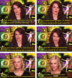 Their love for each other is strong. | Why Tina Fey And Amy Poehler Will Once Again Be Perfect Golden Globe Hosts