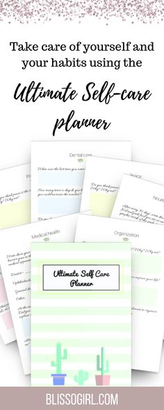 I created this 90 days Self Care Planner for you to start taking care of yourself. With this planner, you will take a journey throughout 90 days on which you will heal your body, both internally and externally, your mind Working Too Much, Journey, Life Organization, Health Yoga, Mental Health, Take Care Of Yourself, Self Care, Dental, Habit Trackers
