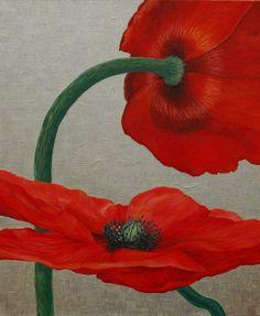 "Saatchi Online Artist: Nadya Polevich; Oil, Painting ""Poppies"""