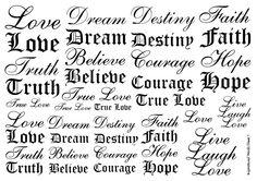 Temporary Tattoos Inspirational Words