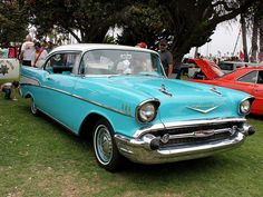 A Classic 1957 Chevy Bel Air in Blue | Flickr - Photo Sharing!