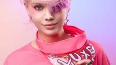 Fashionista Smile: The Ultimate Music and Arts Festival Look - Coachella 2016 Blue Grey Hair, White Blonde, Blonde Color, Hair Color, Rose Gold Hair, Pink Hair, Purple Pixie Cut, Short Asymmetrical Haircut, Medium Hair Styles