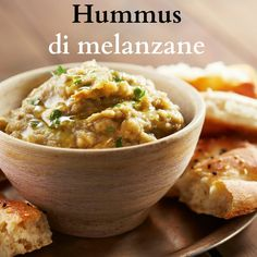 This Eggplant Dip (Baba Ghanoush) recipe is part of the Epicurious Online Cooking School, in partnership with the Culinary Institute of America. A Food, Food And Drink, Pesto, Mediterranean Recipes, Finger Foods, Eggplant, Food Processor Recipes, Vegan Recipes, Brunch