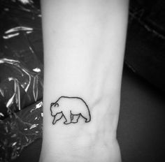 Image result for tiny bear tattoo