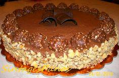» Τούρτα Ferrero rocher από τον Παναγιώτη Θεοδωρίτση και τις «Συνταγές Πάνος »  !   Nutella Mousse, Mousse Cake, Greek Desserts, Party Desserts, Cheesecake Ferrero Rocher, Sweets Cake, Eat Dessert First, Sweets Recipes, Cakes And More